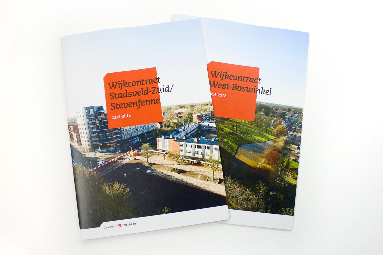 Ontwerp wijkcontract Gemeente Enschede, cover | Studio Index