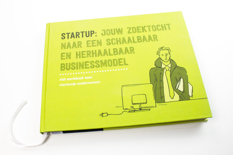 Ontwerp Saxion startup werkboek, cover | Studio Index
