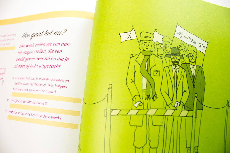 Saxion startup werkboek, Illustratie José Boekema | Studio Index