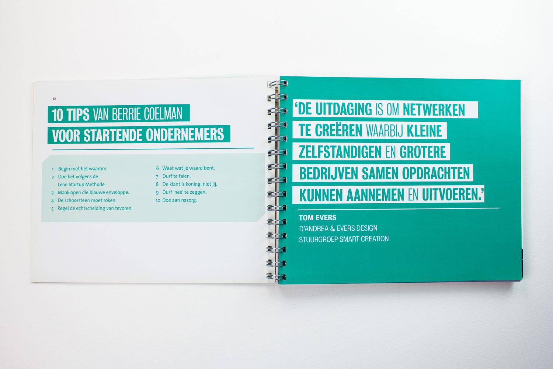 Ontwerp boek The Smart Story, pagina 'netwerken' | Studio Index