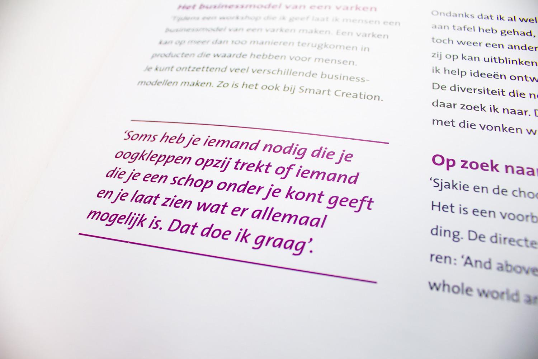Ontwerp boek The Smart Story, quote | Studio Index