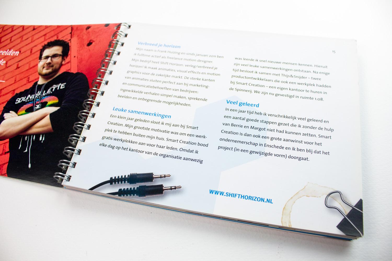 Ontwerp boek The Smart Story, 'verbreed je horizon' | Studio Index