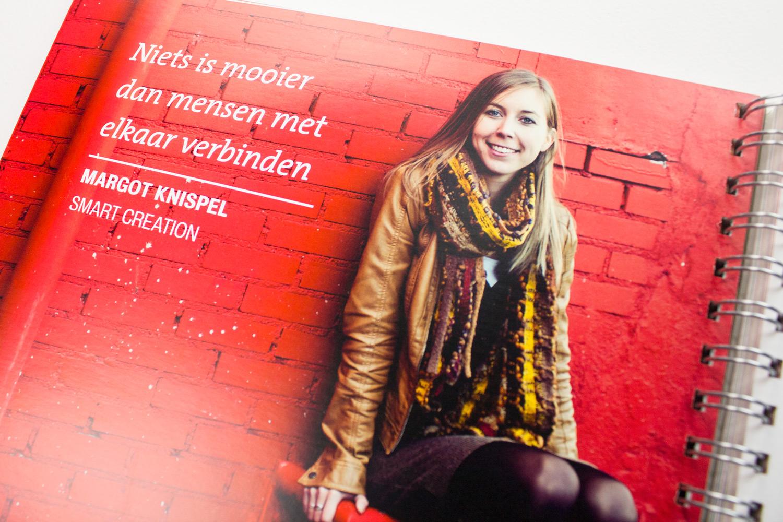 Ontwerp boek The Smart Story, pagina Margot   Studio Index
