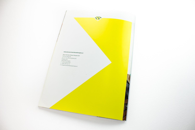 Ontwerp brochure Dura Vermeer Bouw Hengelo, back | Studio Index