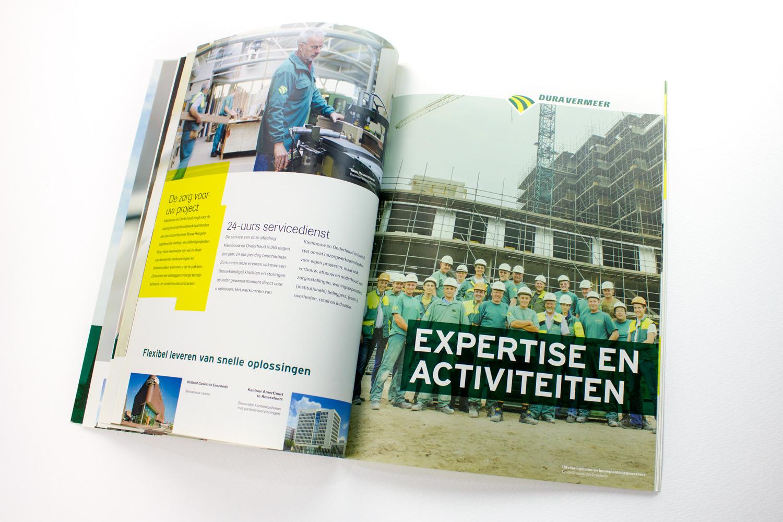 Ontwerp brochure Dura Vermeer Bouw Hengelo, expertise | Studio Index