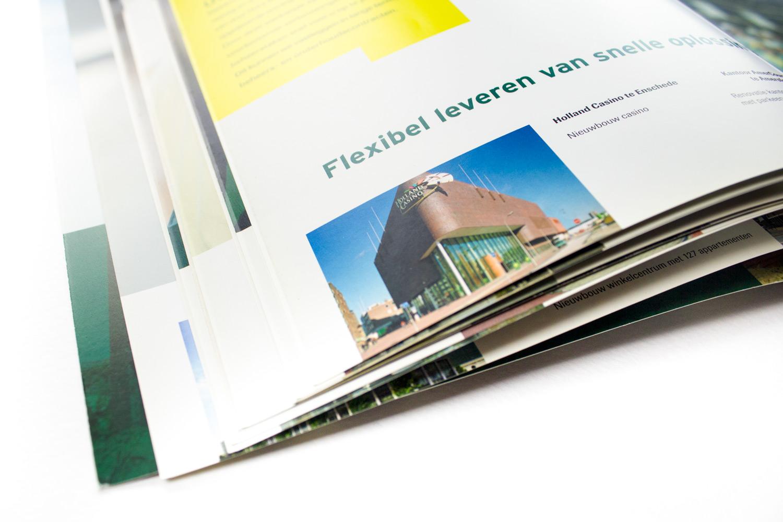 Ontwerp brochure Dura Vermeer Bouw Hengelo, flexibel | Studio Index