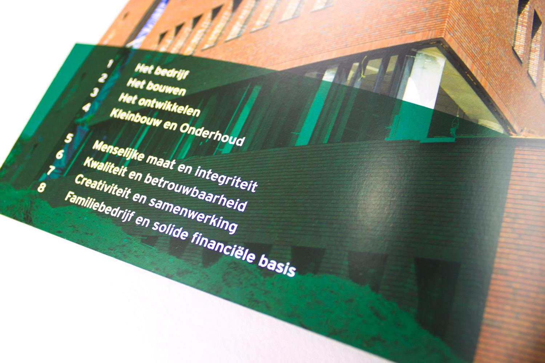 Ontwerp brochure Dura Vermeer Bouw Hengelo, inhoudsopgave | Studio Index